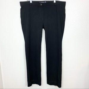 Betabrand Classic Black Yoga Dress Pant 2X